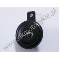 Klakson Sygnał dźwiękowy 12V  fi 70mm Czarny półmat