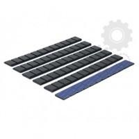 Klejone ciężarki do kół aluminiowych 12x5g cynkowy czarny 1 listek