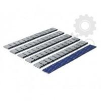 Klejone ciężarki do kół aluminiowych 12x5g cynkowy chromowane 1 listek