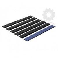Klejone ciężarki do kół aluminiowych 12x5g cynkowy czarne 1 listek