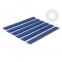 Klejone ciężarki do kół aluminiowych 12x5g cynkowy niebieskie 1 listek