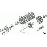 Łożysko igiełkowe dwurzędowe + tuleja kosza sprzęgła Honda CR 250 R 86-07, CRF 450 R 02-14