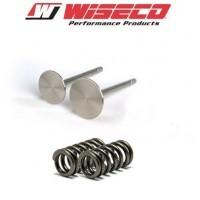 Komplet - Zawory wydechowe + sprężyny WISECO Kawasaki KXF 450 06-08 / KFX450R 08-13