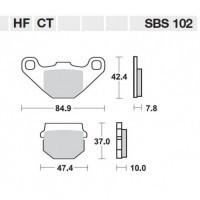 KLOCKI HAMULCOWE SBS 102HF Przód