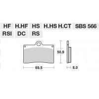 SBS KLOCKI HAMULCOWE 566HF przód