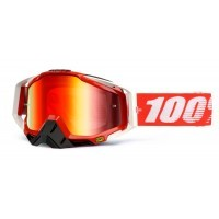 Gogle off-road 100% RACECRAFT FIRE RED Lustro czerwone