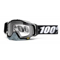 Gogle off-road 100% RACECRAFT ABYSS BLACK szyba clear