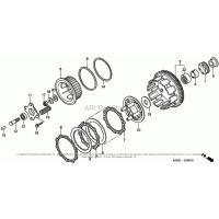 Łożysko igiełkowe kosza sprzęgła Honda CB 600 F Hornet 04-06, CBR 600 F4I, CBR 929, 954, VTR 1000, CBR 600, CB 900 F Hornet