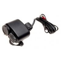 Gniazdo zapalniczki + wejście USB motocykl skuter quad