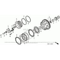 Koszt wewnętrzny sprzęgła, wysprzęglik śruby kosza Honda CBR 600 F4i 01-06