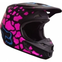 Kask FOX V1 GRAV V-1 BLACK/PINK cross