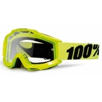Gogle cross enduro 100% ACCURI FLUO YELLOW szyba clear