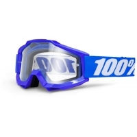 Gogle cross enduro 100% ACCURI OTG REFLEX Blue szyba clear do jazdy w okularach