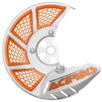 OSŁONA TARCZY HAMULCOWEJ PRZEDNIEJ Acerbis X-BRAKE 2.0 cross enduro white/orange