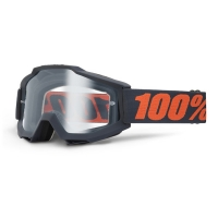 Gogle cross enduro 100% ACCURI GUNMETAL szyba clear