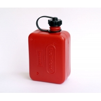 Kanister z tworzywa do paliwa/oleju 0,5L. kolor czerwony Huenersdorff
