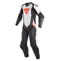 Dainese LAGUNA SECA 4 1PC PERF. LEATHER SUIT - BLACK/WHITE/FLUO-RED - jednoczęściowy kombinezon motocyklowy