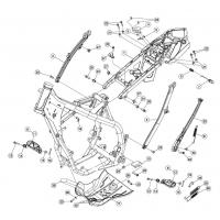 Stelaż górny tył Beta 250/300 RR 2T 13-14, 350/390/430/480 4T