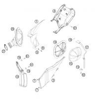 Osłony Filtra powietrza KTM SXF 250 08-09, EXC 450 08-10