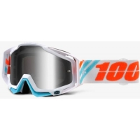Gogle cross enduro 100% RACECRAFT CALCULUS ICE SZYBKA SREBRNE LUSTRO