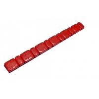 Klejone ciężarki do kół aluminiowych 6 x 2,5 g i 6 x 5,0 g cynkowy czerwony 1 listek