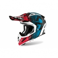 KASK AIROH AVIATOR ACE KYBON BLUE/RED GLOSS